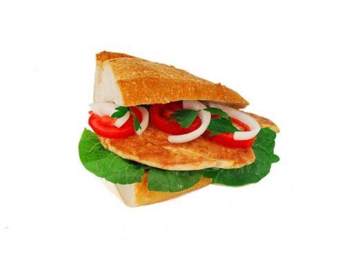 鶏むね肉のサンドイッチ