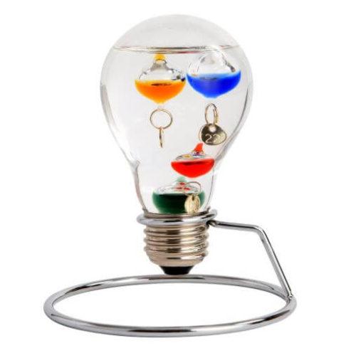 電球型のガリレオ温度計