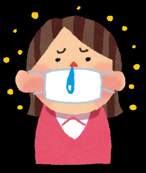 花粉症で鼻水に悩んでいる女性