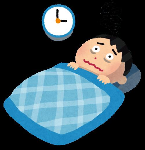 不眠症で寝れない男性