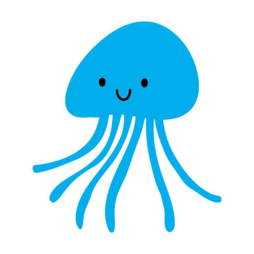 アクアチューブにセットされているクラゲのイメージ