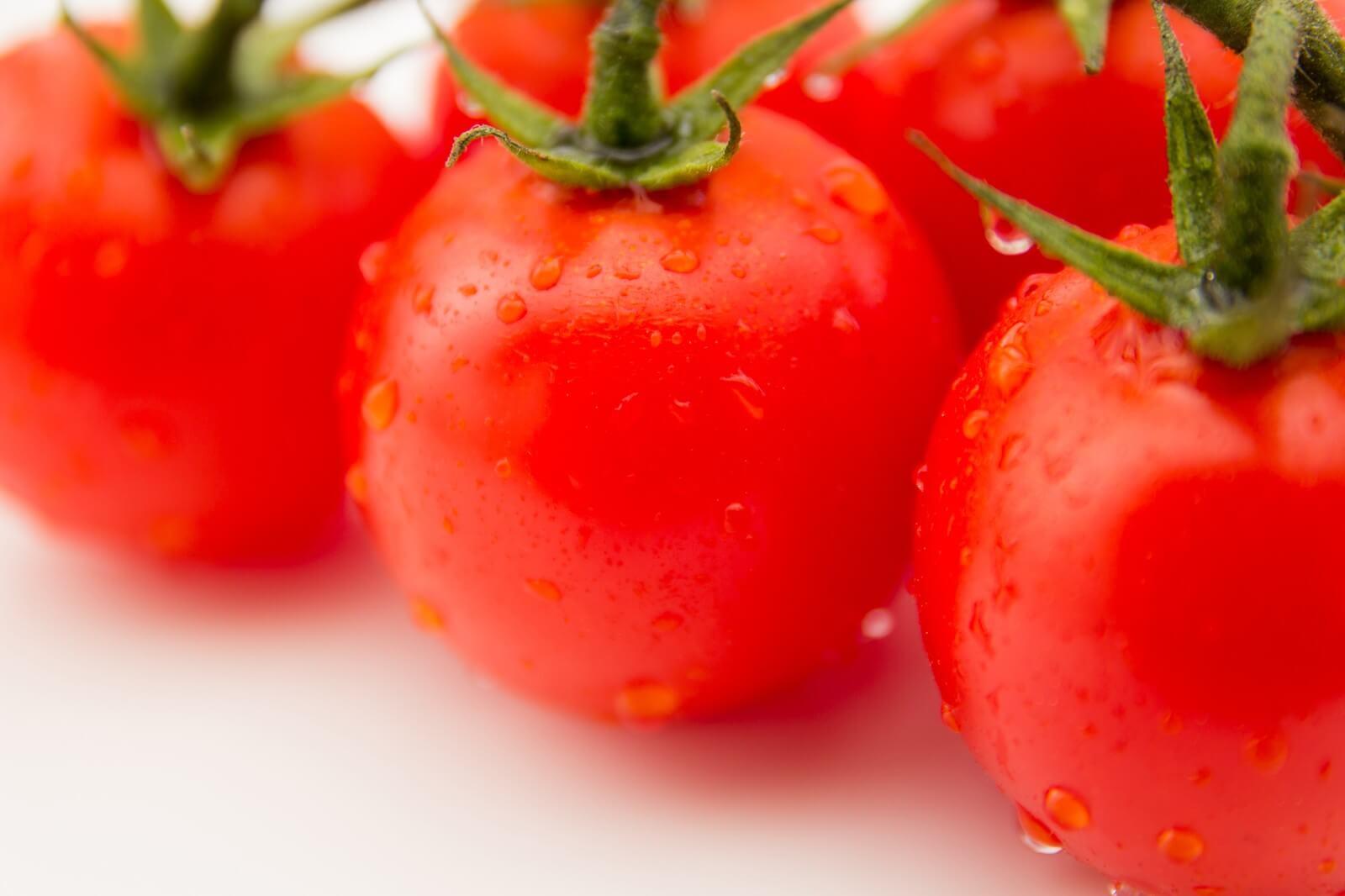 みずみずしいたくさんのトマト