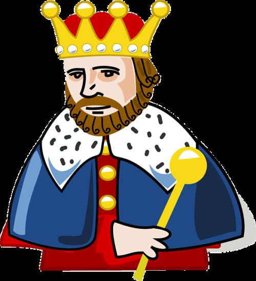 昔は唯一ココアを飲むことができた王様のイラスト