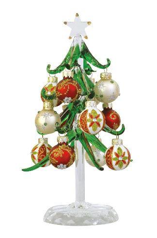 「手作りガラス細工 クリスマス ラグジュアリーツリー」の見た目