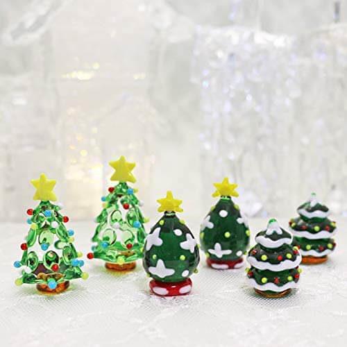 ガラス細工のクリスマスツリーセット
