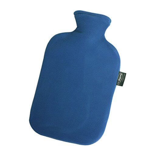 Fashy湯たんぽの青色のフリースカバー付き
