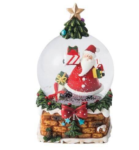 マークスのサンタとクリスマスツリーがモチーフのスノードーム
