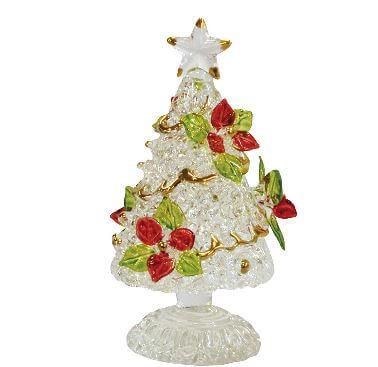 「ポインセチア」をモチーフにしたガラス製クリスマスツリー