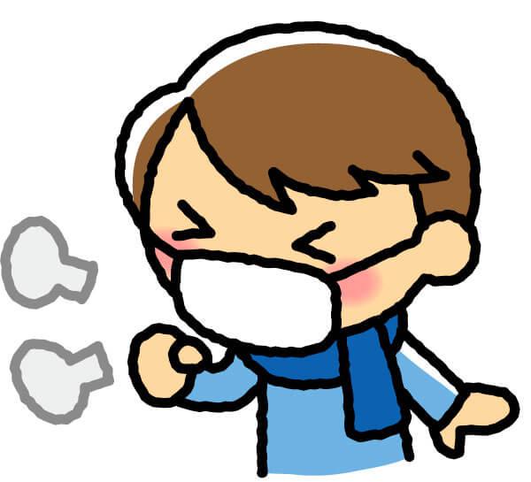 インフルエンザになった男性のイラスト