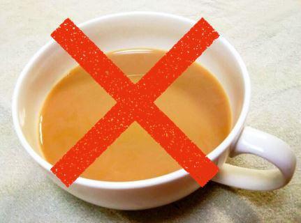 インフルエンザにおすすめできないミルクティーが入ったカップ