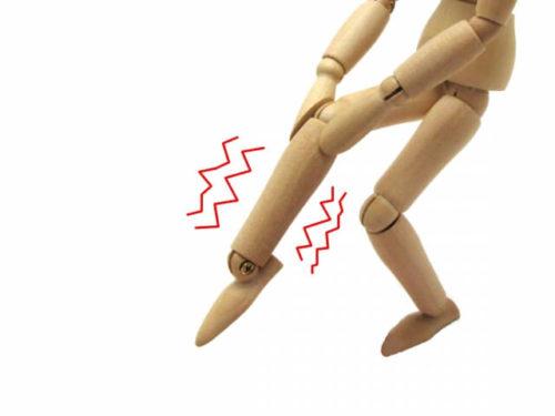 足がむくんでいる人のイメージ模型