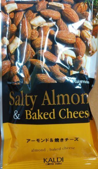 カルディオリジナルのアーモンド&焼きチーズの袋