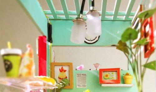ミニチュアキットデザートの壁と天井のライト