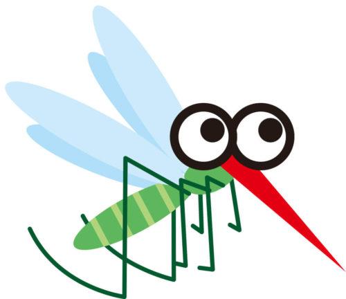 ハッカ油のスプレーが効果的な蚊のイラスト