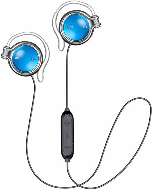 「ケンウッド ワイヤレスイヤホン 耳掛け式 Bluetoothのブルー」