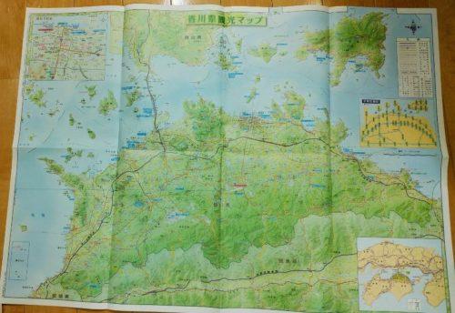 香川県の観光パンフレット内部の地図