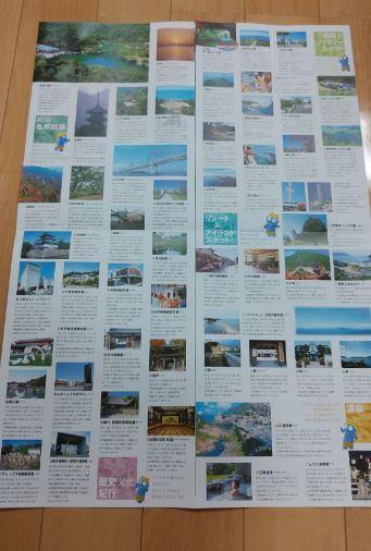 香川県の観光パンフレット中身