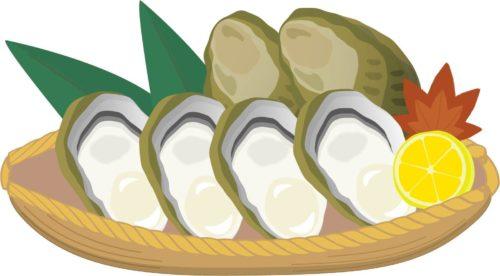 広島名物の牡蠣がたくさんある