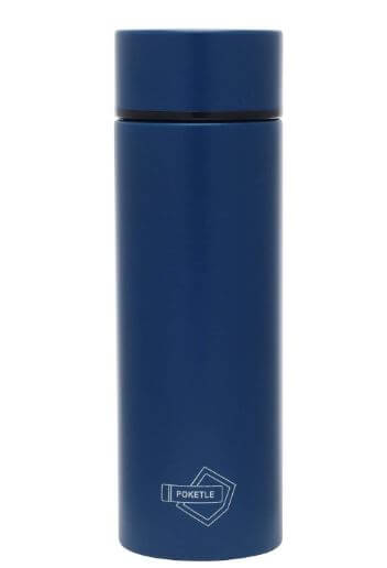 ネイビー色のポケトルの水筒