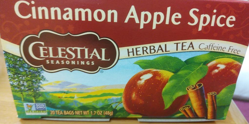 セレッシャルの「シナモンアップルスパイスティー」の箱