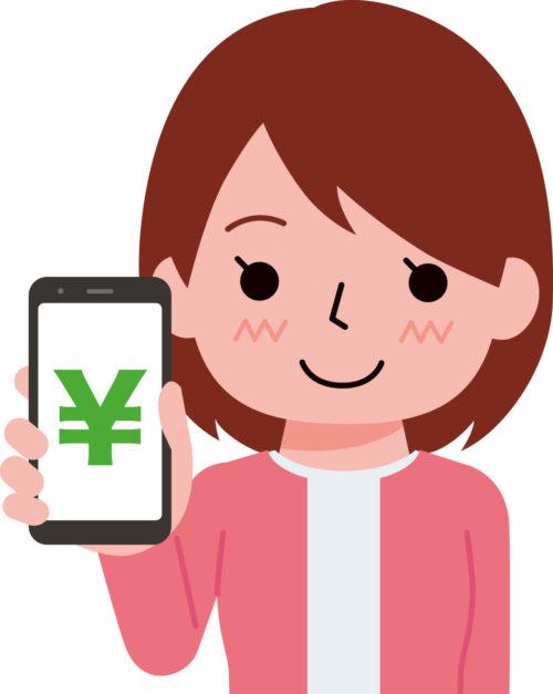 「audiobook.jp」の決済方法で携帯払いを使った女性のイメージ