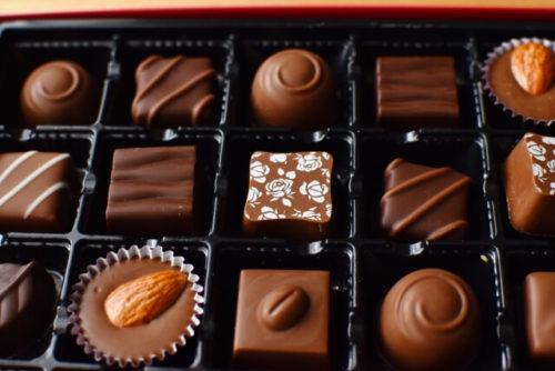 いろんな種類のチョコレートがあるト
