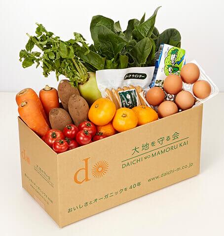 大地を守る会の野菜宅配セットの一例