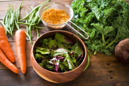 栄養バランスの取れた野菜サラダといろんな野菜