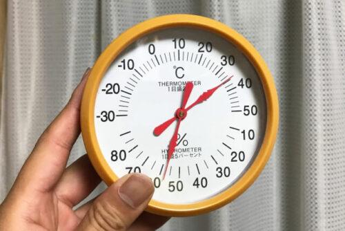 湿度と温度計